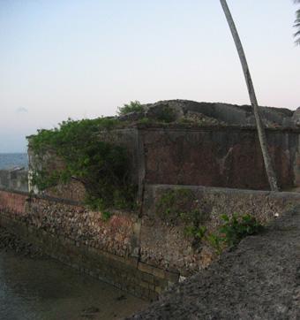 Fortet i nordligaste Morro de Sao Paulo